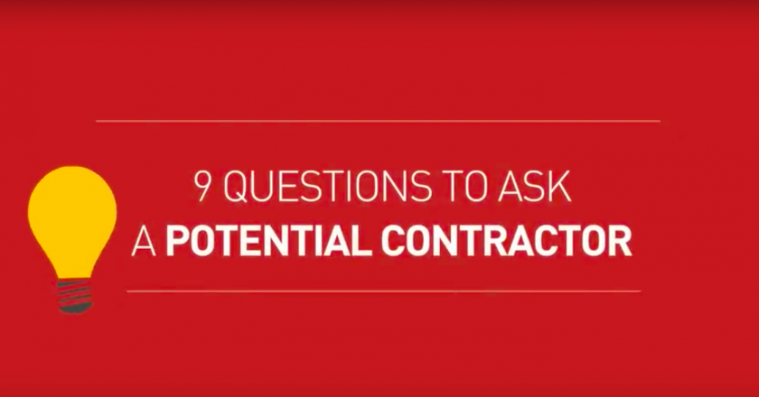 what to ask a contractor