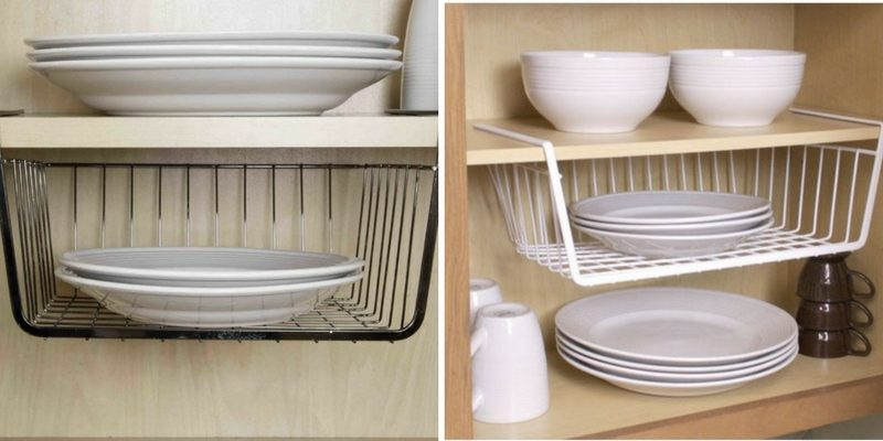 organizing tips under shelf storage