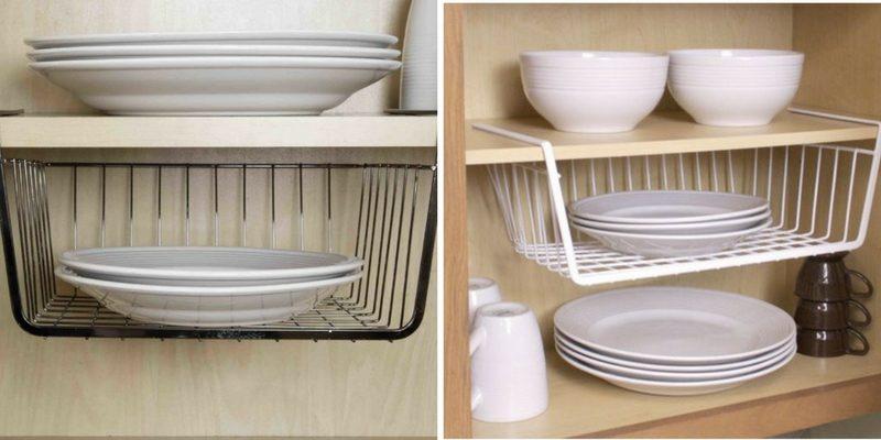 organizing tips under shelf storage